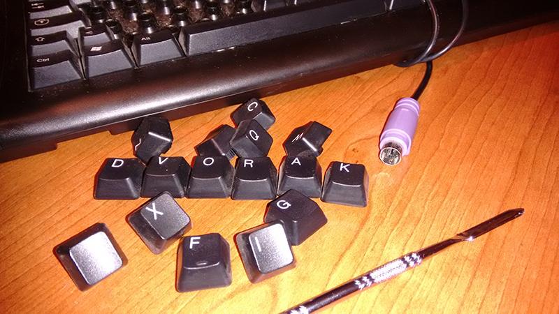 Dvorak tastiera modificata