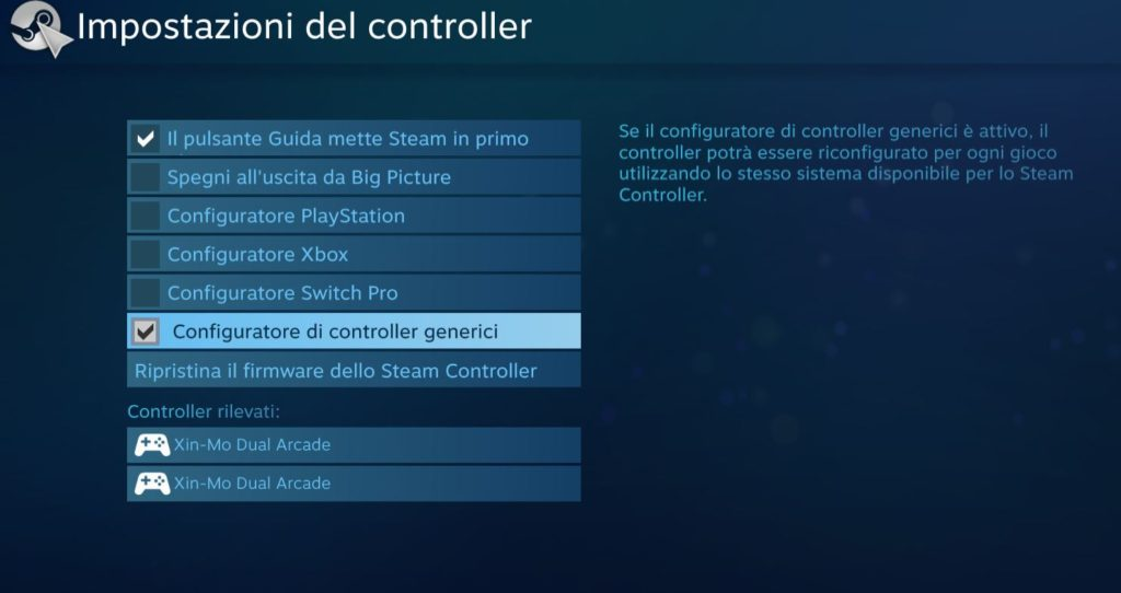 Steam Fix controller