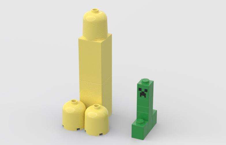 Lego mattoncini costruire progettare design CAD render