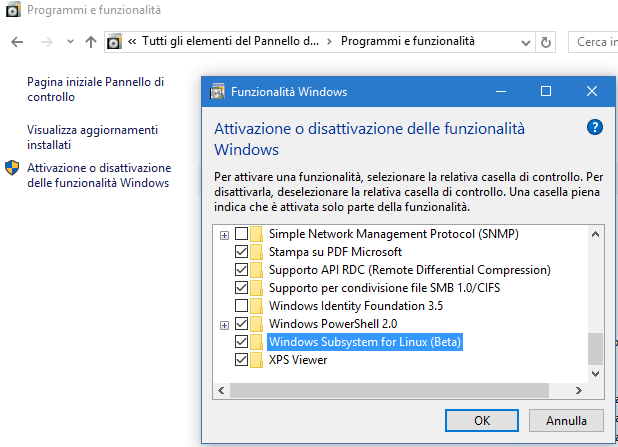 Windows 10 bash system