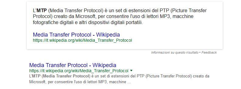 Android non visualizzo file con il cavo USB protocollo MTP