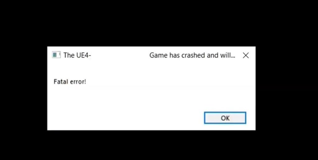 The UE4 - - game has crashed and will close fix solution work resolved risolto